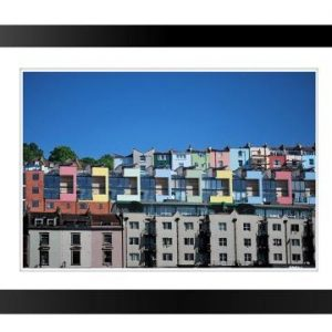 framed print Coloured Houses Bristol