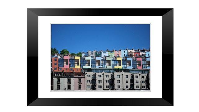 framed print Coloured Houses Bristol