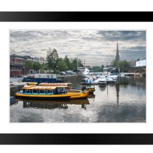Framed Print Bristol Ferries St Mary Redcliffe Church