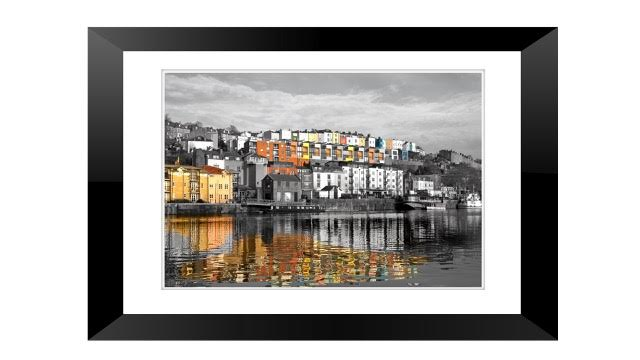 Framed Print Reflections at Harbourside Bristol