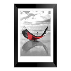 Kite Surfing at Perrenporth framed print