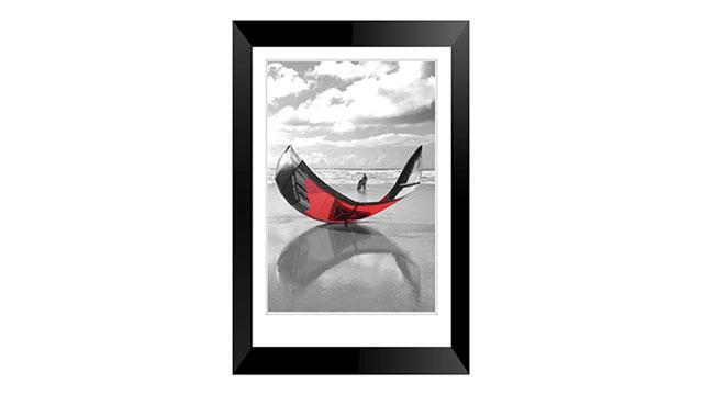 Kite Surfing at Perrenporth framed print