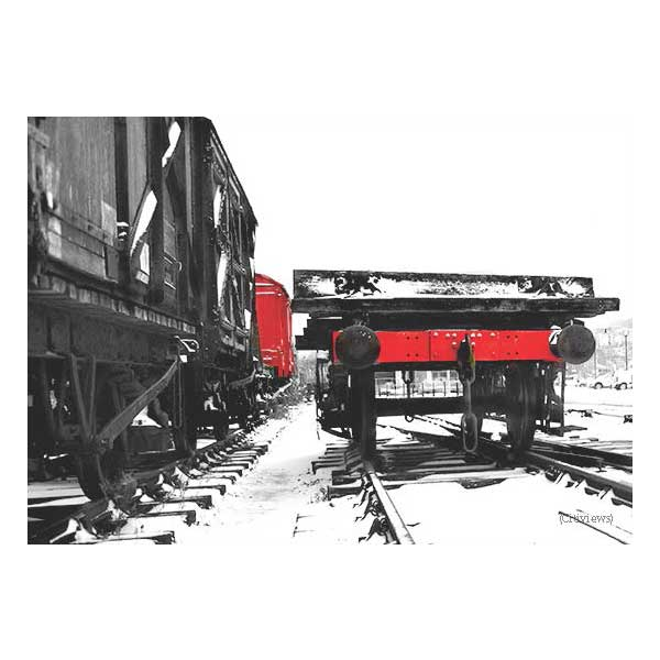 Steam Train Wagon in the Snow