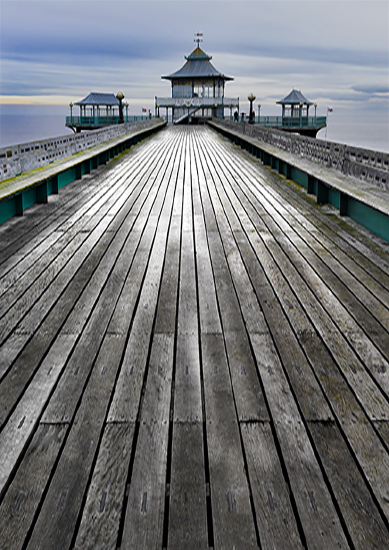 Boardwalk under Blue Skies Clevedon Pier