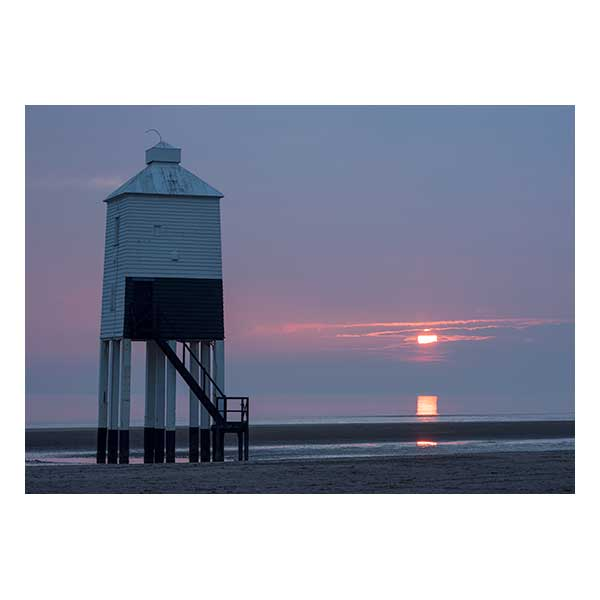 Sunset over Burnham on Sea Lighthouse