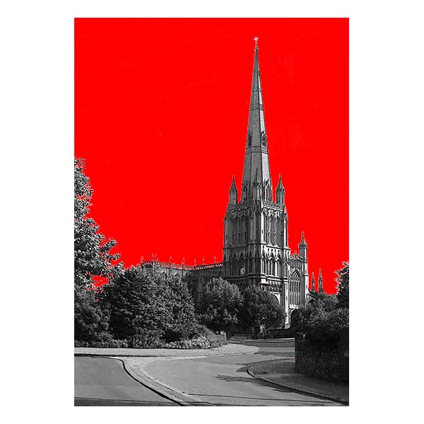 St Mary Redcliffe with Red Background