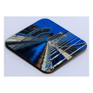 Suspension Bridge in Blue