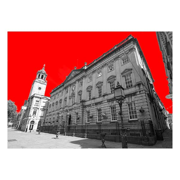 Corn Exchange in Red