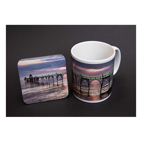 Clevedon Pier Mug & Coaster