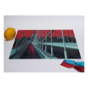 Suspension Bridge Chopping Board Red