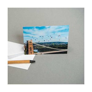 Greeting Card Balloons and Clifton Suspension Bridge
