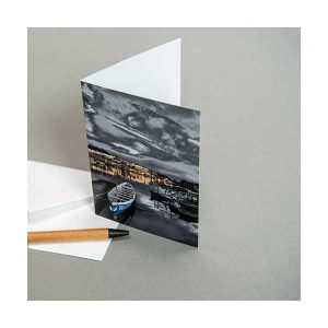 Greeting Card Boat Water