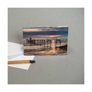Greeting Card Clevedon Pier Sunset