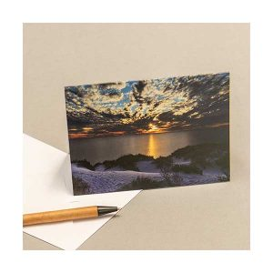 Greeting Card Sunset Coral Bay Sand