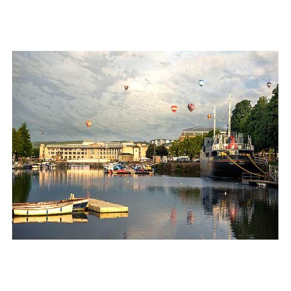 Water Hot Air Balloons Buildings